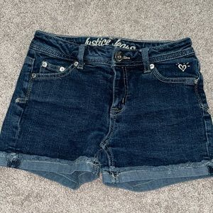 Justice 12 slim Jean shorts girls denim summer